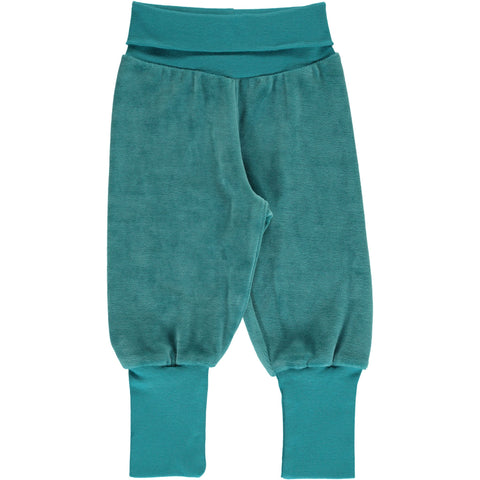Maxomorra - Pants Rib Velours Artic Blue - IJs Blauw Velours broekje
