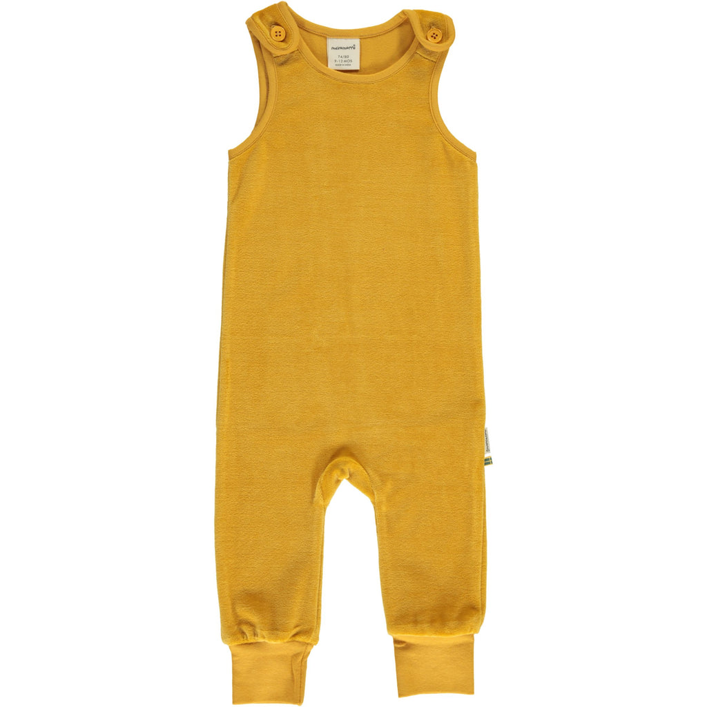 Maxomorra - Playsuit Velour Ochre - Oker Gele Playsuit Velours