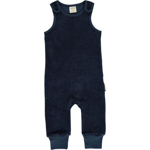 Maxomorra - Playsuit Velour Midnight - Donker Blauwe Playsuit Velours