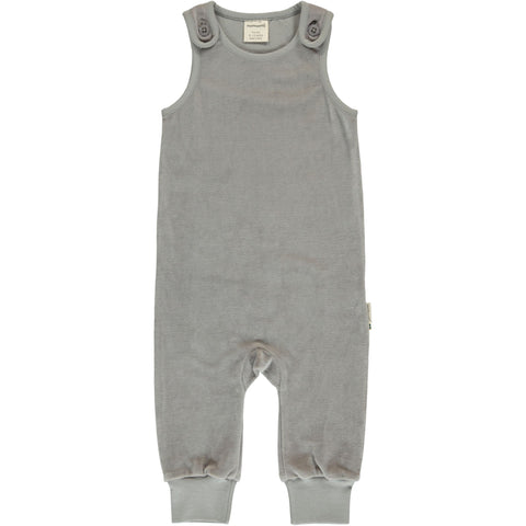 Maxomorra - Playsuit Velour Misty Grey - Mistig Grijze Playsuit Velours