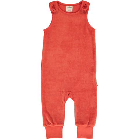 Maxomorra - Playsuit Velour Rowan - Oranje Rode Playsuit Velours