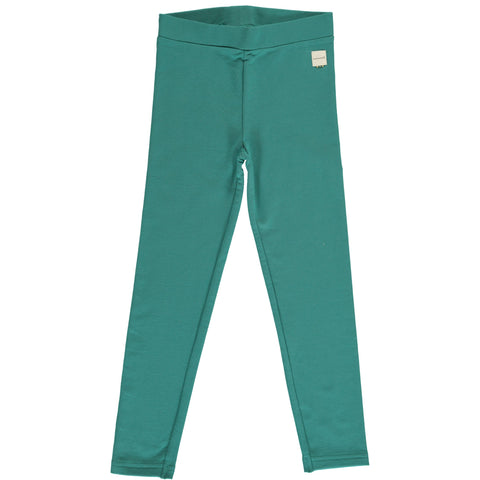 Maxomorra - Leggings Sweat Teal - Teal Groene sweat Legging