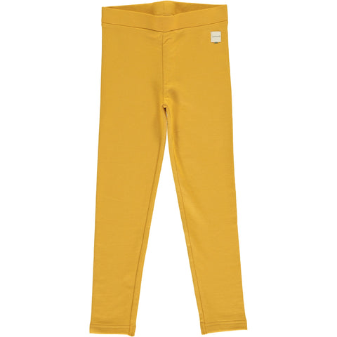 Maxomorra - Leggings Sweat Ochre - Oker Gele Sweat Legging