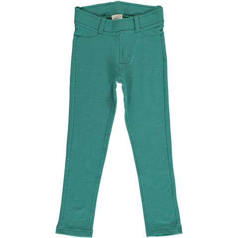 Maxomorra - Treggings Sweat Teal - Skinny broek Teal Groen