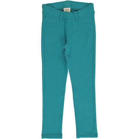 Maxomorra - Treggings Sweat Artic Blue - Skinny Broek IJs Blauw