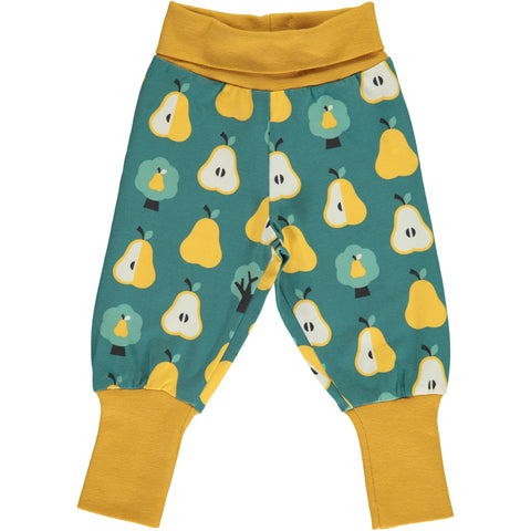 Maxomorra Pants Rib Golden Pear - Baby broekje Peren
