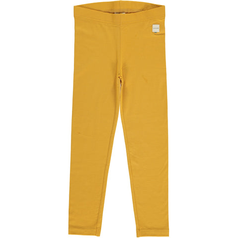 Maxomorra - Leggings Solid Ochre - Oker Gele Leggings