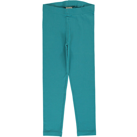 Maxomorra - Leggings Solid Artic Blue - Ijs Blauwe Legging