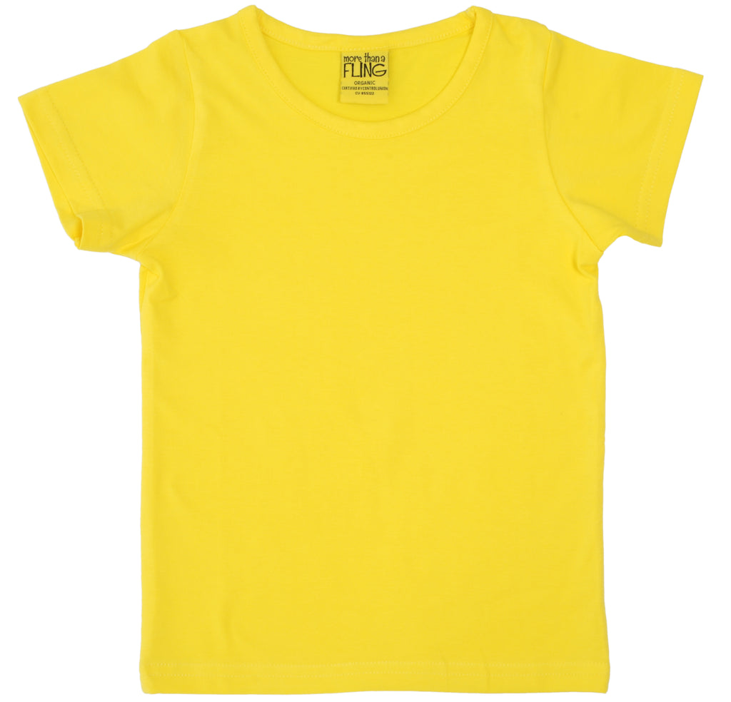 More Than A Fling T Shirt Bright Yellow - Helder Geel T-Shirt