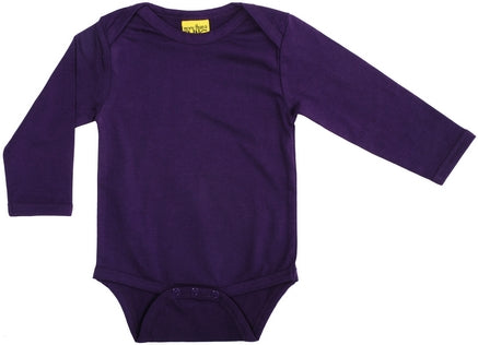 More Than A Fling Body Dark Purple - Donker Paarse Romper Lange Mouw