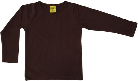 More Than A Fling Longsleeve Java Brown Bruine longsleeve