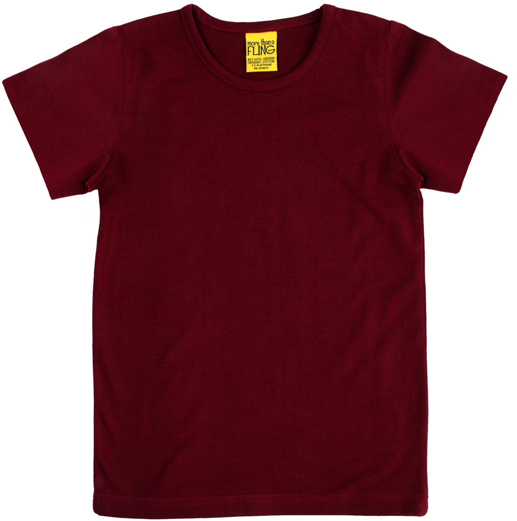 More Than A Fling T Shirt Wine Red - Wijnrood Shirt