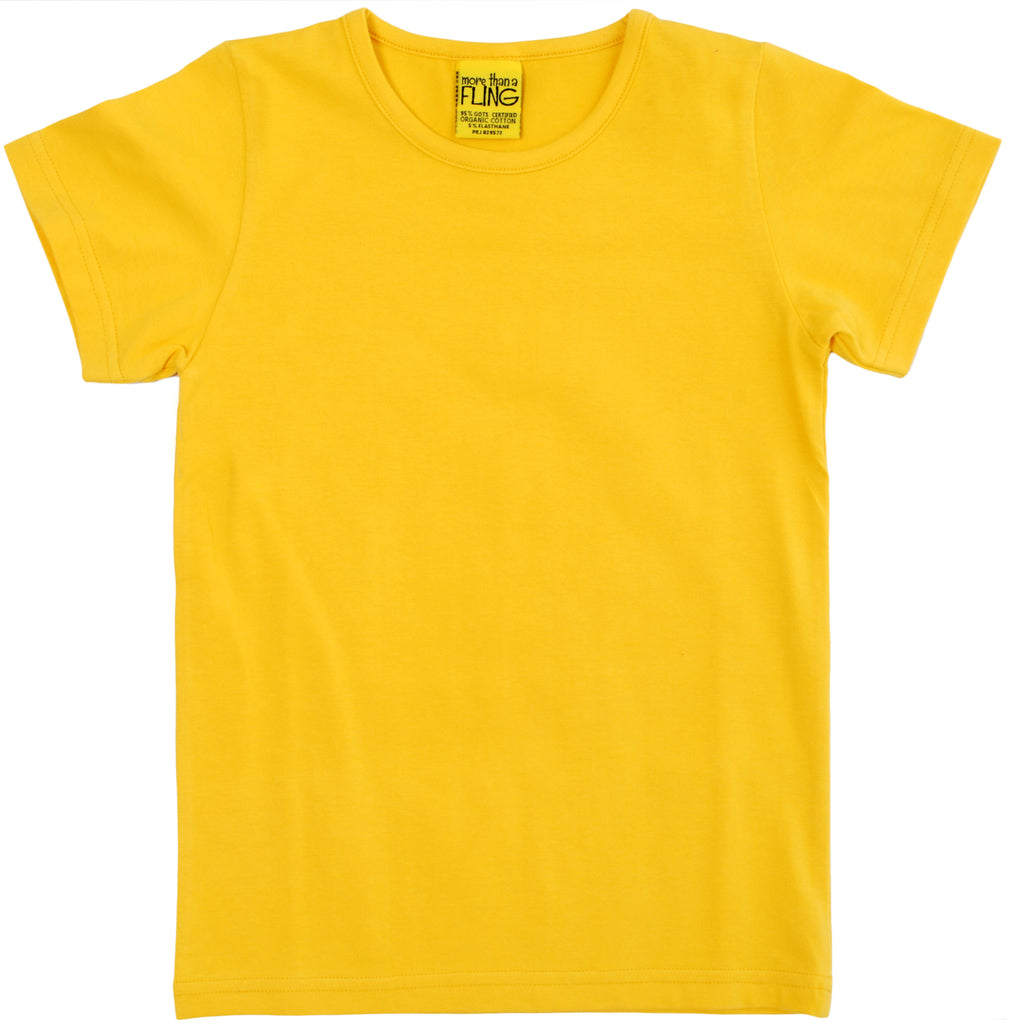 More Than A Fling T Shirt Yellow - Geel T-shirt