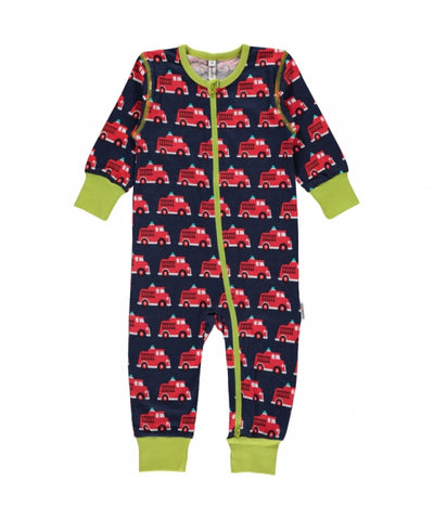 Maxomorra Jumpsuit Zipper Zipsuit Firetruck
