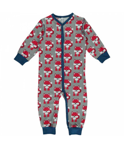 Maxomorra Jumpsuit Button Fox