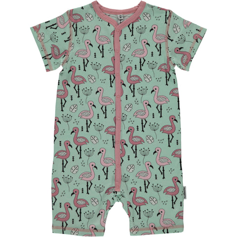 Maxomorra Summersuit Sweet Flamingo