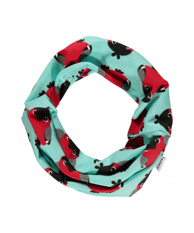 Maxomorra Scarf Tube Bird Kolsjaal Rode Vogel