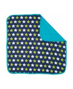 Maxomorra Plus Baby Blanket Stars Dark Blue