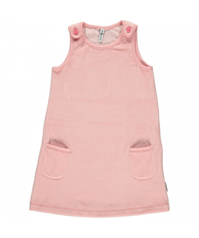 Maxomorra Dress Velours Pocket Pink