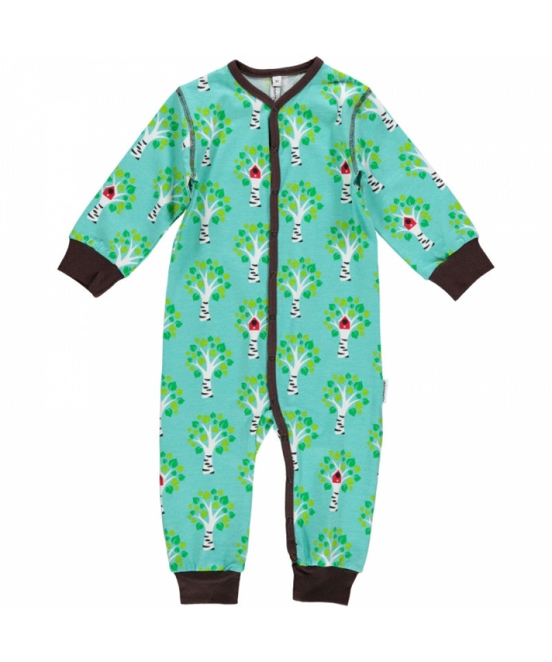 Maxomorra Jumpsuit Button Treehouse Boomhut
