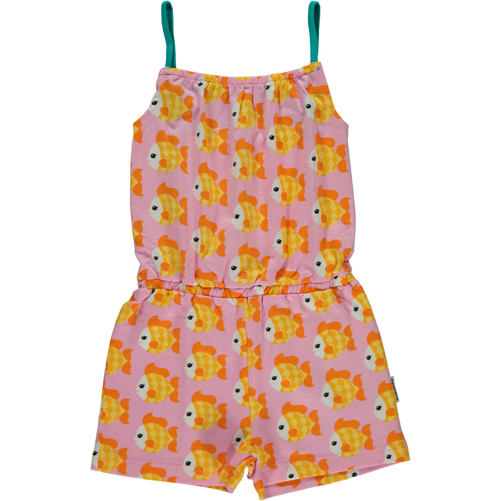 Maxomorra Jumpsuit Short Legs Goldfish - Goudvis