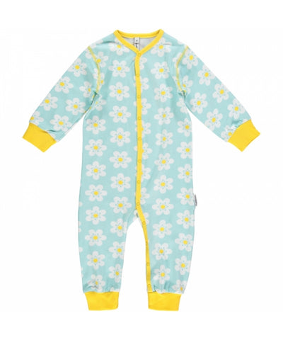Maxomorra Jumpsuit Button Flowers Bloemetjes