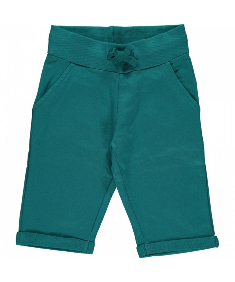 Maxomorra Shorts Knee Soft Petrol - Korte Broek Soft Petrol