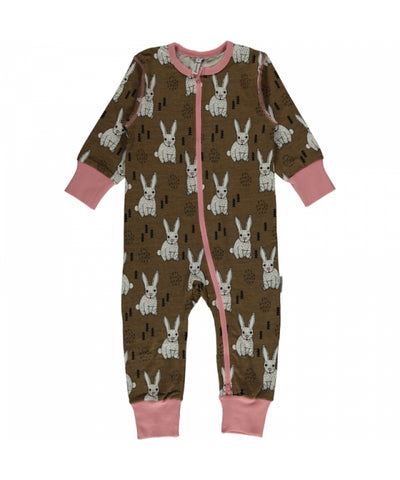 Maxomorra Plus Jumpsuit Zipper Zipsuit Rabbit