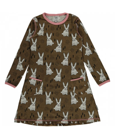 Maxomorra Plus Dress Rabbit Jurk Konijntjes