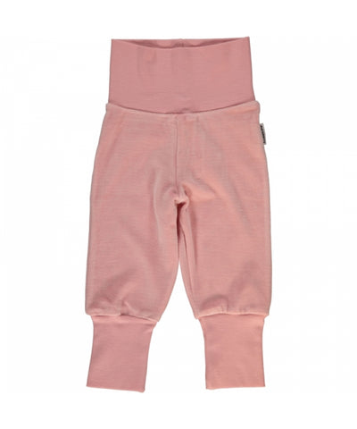 Maxomorra Plus Pants Rib Velours Pink