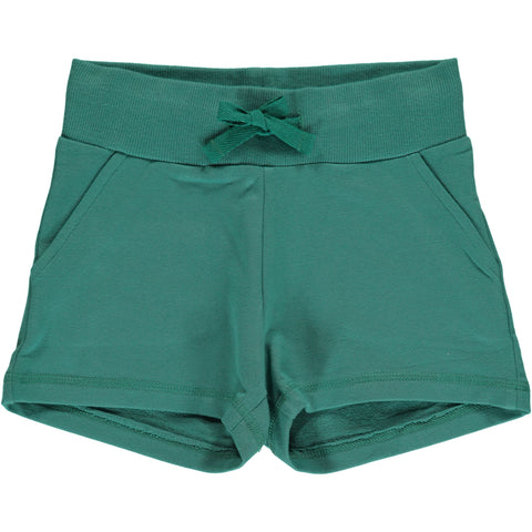 Maxomorra Sweat Shorts Green Petrol - Korte Broekje Groen
