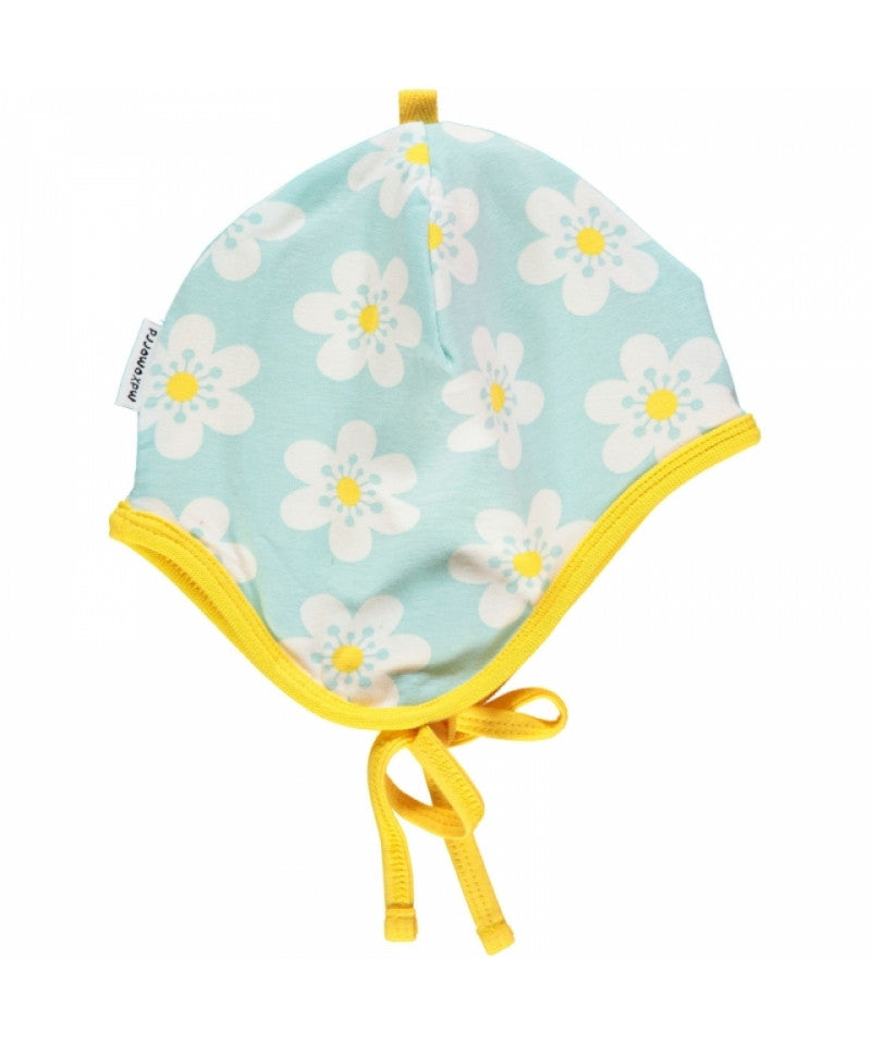 Maxomorra Babyhat Flowers LightBlue Yellow