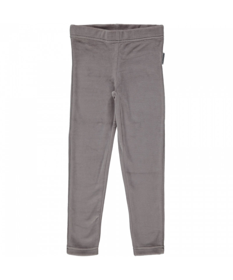 Maxomorra Leggings Velours Grey