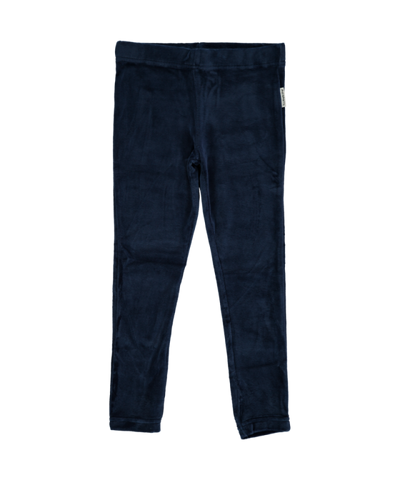 Maxomorra Leggings Velours Dark Blue