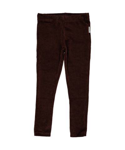 Maxomorra Leggings Velours Dark Brown