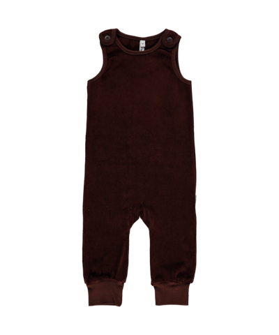 Maxomorra Playsuit Pocket Velours Brown