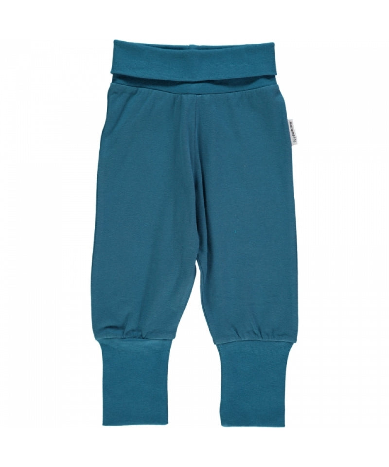 Maxomorra Plus Pants Rib Velours Blue