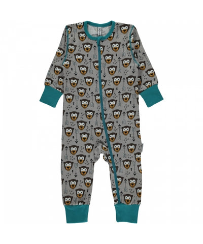 Maxomorra Zipsuit Little Arrow Monkey