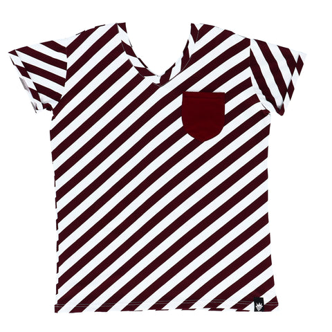 Raspberry Republic - LADIES Short Sleeve Tshirt Candy Cane
