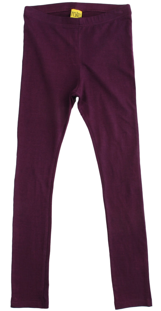 More Than A Fling Leggings Wine - Burgundy