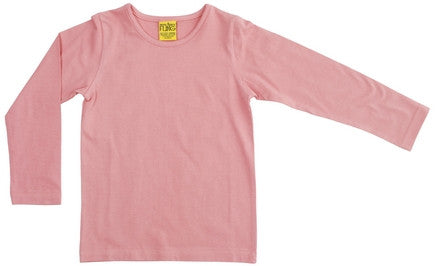 More Than A Fling Longsleeve Solid Blush Shirt Roze