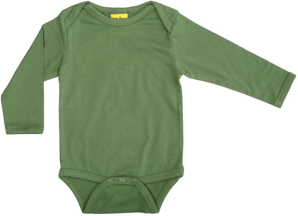 More Than A Fling Body Swamp Green Romper Lange Mouw Moeras Groen