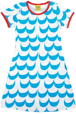 More Than A Fling Dress Waves - Blauwe Golven