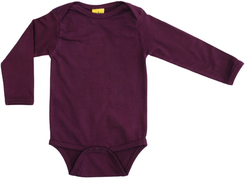 More Than A Fling Body BURGUNDY - Romper Lange Mouw Burgundy
