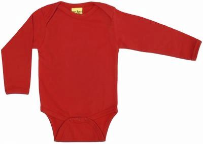 More Than A Fling Body Pompeian Red Romper Lange Mouw Donker Rood