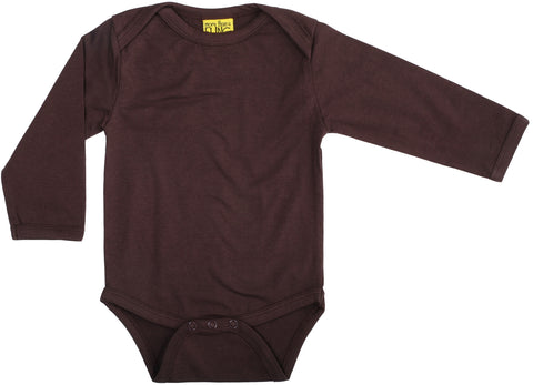 More Than A Fling Body Dark Brown Romper Lange Mouw Donker Bruin