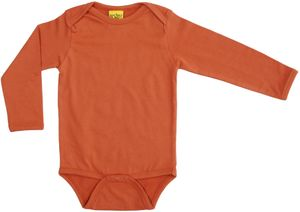 More Than A Fling Body Dark Orange - Romper Lange Mouw Oranje
