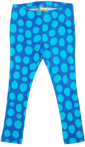 More Than A Fling Leggings Blue Dots Blauw met Turquoise Stippen