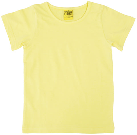 More Than A Fling T Shirt Pale Yellow - Licht Geel