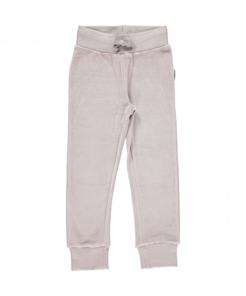 Maxomorra Velour Pants Grey - Grijze Broek Velours